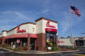 JACKSONVILLE, FL - MARCH 16, 2014: A Chick-fil-A fast food restaurant in Jacksonville. Chick-fil-A,