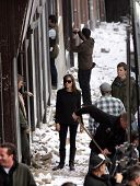 BUDAPEST - NOVEMBER 4: Angelina Jolie, in her directorial debut, on the set of In The Land Of Blood