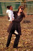BUDAPEST - NOV 5: Brad Pitt and Angelina Jolie and their children Zahara, Pax, and Shiloh enjoy an early evening visit to a park in Budapest, Hungary, on Friday, November 5, 2010.