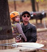 BUDAPEST-NOV5: Brad Pitt and Angelina Jolie and their children Zahara, Pax, and Shiloh enjoy an earl