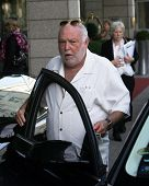 BUDAPEST, HUNGARY - SEPT 29: Hollywood movie producer Andy Vajna gets into his car outside a hotel in Budapest, Hungary, on Thursday,  September 29, 2011. Vajna produced such film classics as Rambo, Evita and The Terminator.