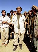 MAZAR, AFGHANISTAN - OCTOBER 3: Anti-Taliban forces co-leader Ahmed Shah Massood, seen here at cente