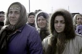 CHECHNYA - DECEMBER 28: Chechen women protest the Russian invasion of Chechnya on December 28, 1994