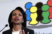 VIENNA, AUSTRIA - MAY 31: United States Secretary of State Condoleezza Rice speaks  at  the Women Le