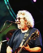 EAST RUTHERFORD, NEW JERSEY - AUGUST 3: The Grateful Dead in concert in East Rutherford, New Jersey, on Sunday, August 3, 1994.  Seen here is Jerry Garcia.