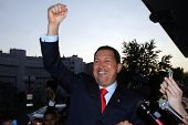 VIENNA - MAY 11: Venezuelan President Hugo Chavez greets a crowd in Vienna, Austria, on Thursday, Ma