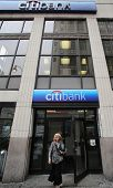 NEW YORK CITY - JULY 11: Pedestrians walk past a Citibank bank branch in midtown Manhattan on Thursd