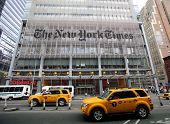 NEW YORK CITY - OCT 17:  A general exterior view of the headquarters of The New York Times in Manhat