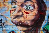 MELBOURNE, AUSTRALIA - MARCH 20 2014: Street art by unidentified artist. Melbourne's graffiti manage