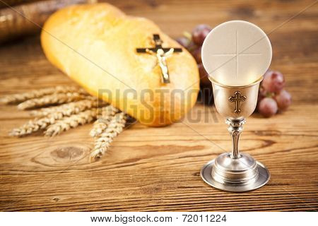 holy communion bread wine poster id 72011224