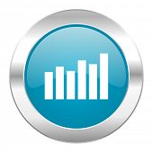 graph internet blue icon