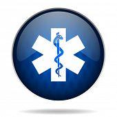 emergency internet blue icon