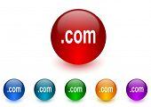 com internet icons colorful set