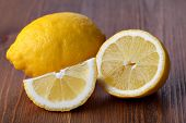 lemon fruit on a wooden background