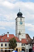 pic of sibiu  - sibiu city romania council Tower landmark architecture - JPG