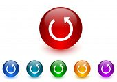 rotate internet icons colorful set
