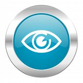 eye internet blue icon
