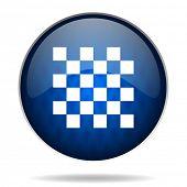 chessboard internet blue icon