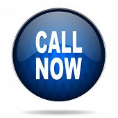 call now internet blue icon