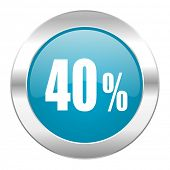 40 percent internet icon