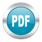 pdf internet blue icon