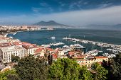 Panorama of Naples with Mount Vesuvius and the Bay