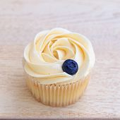 Cup-cake Close-up With Blueberry On Top