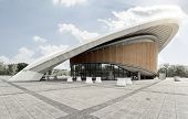 BERLIN - MAI 1, 2014: house of world cultures (Haus der Kulturen der Welt), an exhibition hall in Be