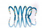 Beads, beadworks on white poster