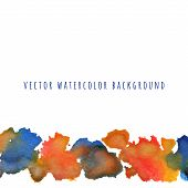 Abstract Colorful Watercolor Background With Brush Stroke