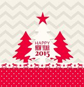 Christmas And New Year 2015 Greeting Card