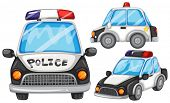 illustration of three police cars