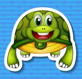 illustration of a turtle with a background