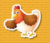 illustration of a chicken with a background