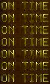 Depart-arrival Schedule Sign