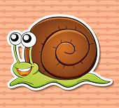 illustration of a snail with a background