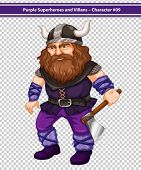illustration of a male viking