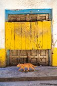 Hand Crafted Wooden Door Post At Zanzibar