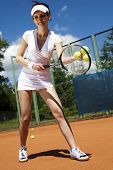 Tennis player on court