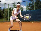 Tennis player on court