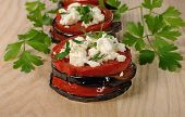 Roasted Eggplant With Tomatoes And Ricotta