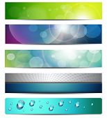 Banners, headers, vector internet backgrounds.