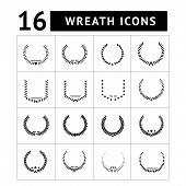 Laurel Wreath And Modern Frames Icon Set