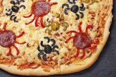 Spider pizza
