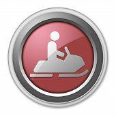 Icon, Button, Pictogram Snowmobiles