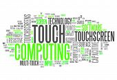 Word Cloud Touch Computing