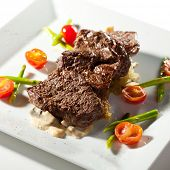 Beef Steak with Cherry Tomato and Asparagus