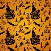 Seamless Halloween Pattern (Vector)