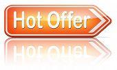 hot offer  or sign for online internet web shop. Webshop shopping sales  announcing bargain for low