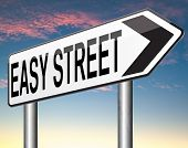 easy street indicating easy solutions or a way to avoid problems safe way taking risk comfortable co